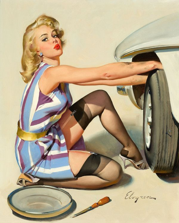 """Quick Change"" by Gil Elvgren"